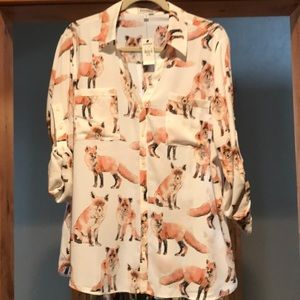 NWT Fox Button Down In XL